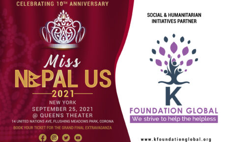 Miss Nepal US partership with K Foundation Global as Social & Humanitarian Initiative