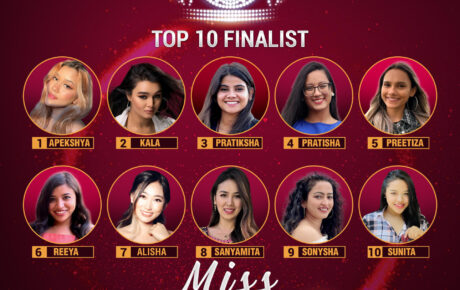 Top 10 national finalists for the 10th anniversary celebration of Miss Nepal US 2021